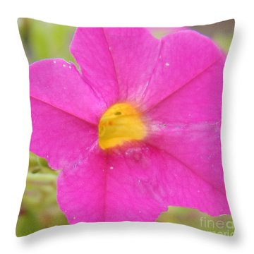 Vibrant Pink Flower Throw Pillow