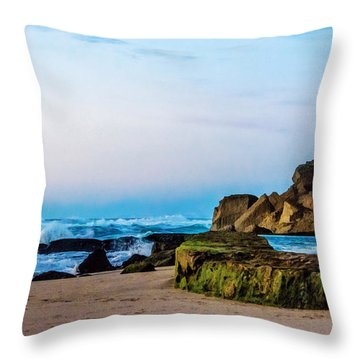 Vibrant Seascape At Twilight Throw Pillow
