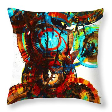 Vibrant Sphere Series 995.042312vsx2 Throw Pillow