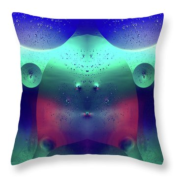 Throw Pillow featuring the photograph Vibrant Symmetry Oil Droplets by John Williams