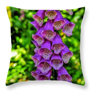 Vibrant Tones I Throw Pillow