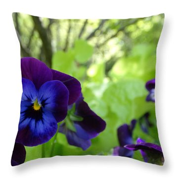 Vibrant Violets In Purple Throw Pillow