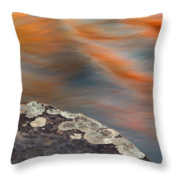 Throw Pillow featuring the photograph Vibrant Waters by Heather Kenward