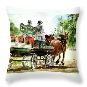 Victoria Bitter, Working Clydesdales. Throw Pillow