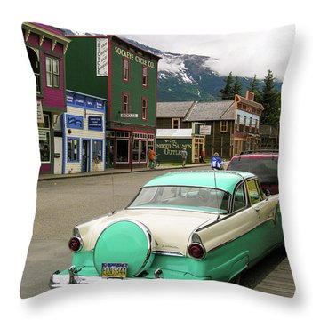 Vicky In Skagway Throw Pillow