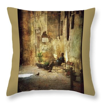 Vicolo Chiuso   Closed Alley Throw Pillow