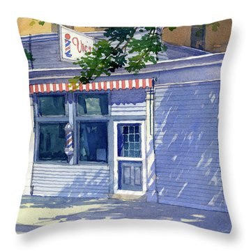 Vic's Barbershop Throw Pillow