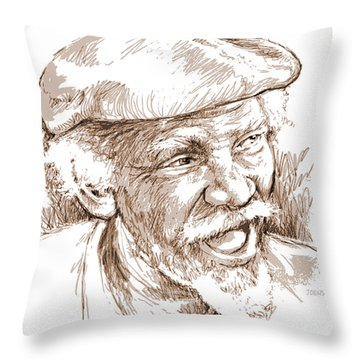 Victor Boa Throw Pillow by Greg Joens