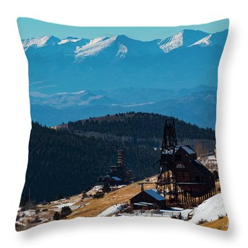 Victor Gold Mine Throw Pillow