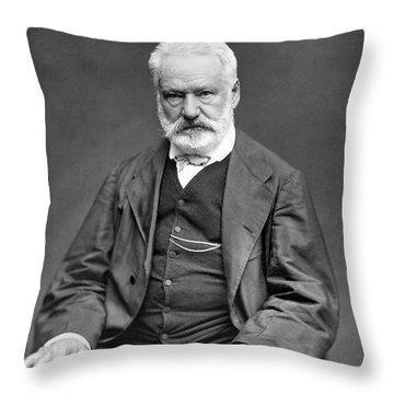 Victor Hugo Portrait - 1876 Throw Pillow