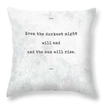 Victor Hugo Quotes - Literary Quotes - Book Lover Gifts - Typewriter Quotes Throw Pillow