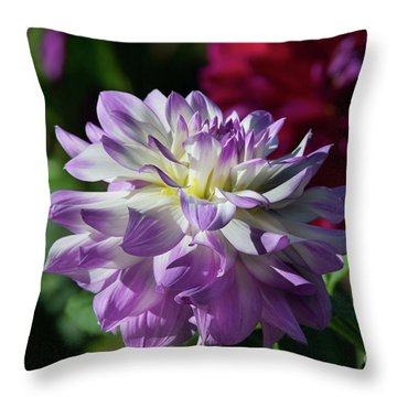 Victoria Ann Dahlia Throw Pillow