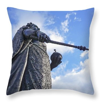 Throw Pillow featuring the photograph Victoria At Windsor Castle by Joe Winkler