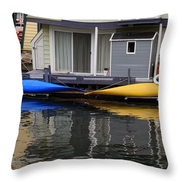 Victoria Boats Throw Pillow