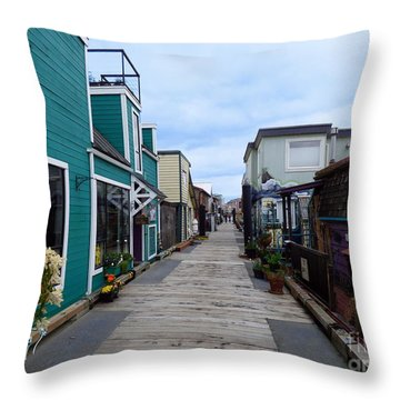 Victoria British Columbia Fisherman's Wharf Throw Pillow