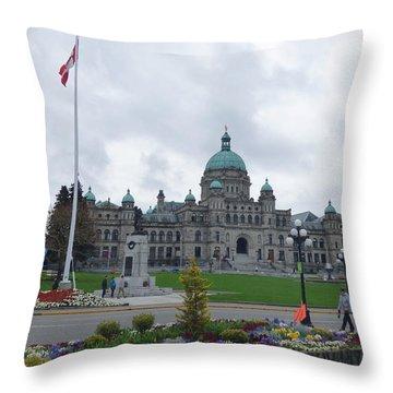 Victoria British Columbia Parliament Building Throw Pillow