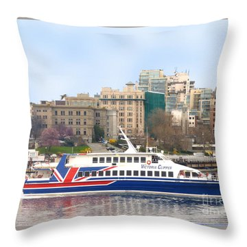 Victoria Clipper Throw Pillow