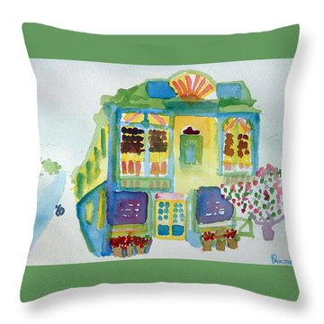 Victoria Corner Throw Pillow