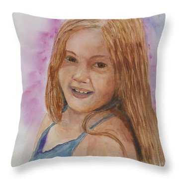 Throw Pillow featuring the painting Victoria by Donna Walsh