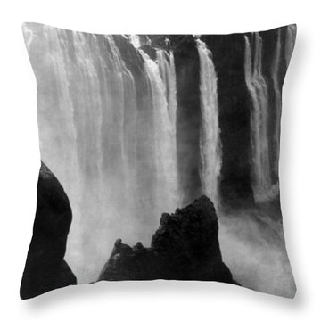 Victoria Falls - C 1911 Throw Pillow