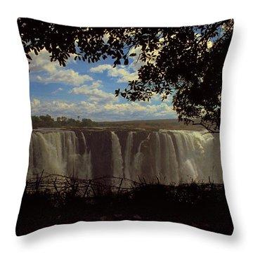 Victoria Falls, Zimbabwe Throw Pillow