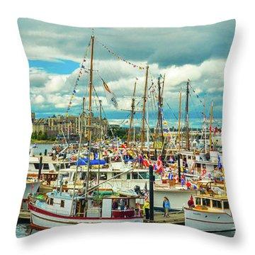 Victoria Harbor 1 Throw Pillow
