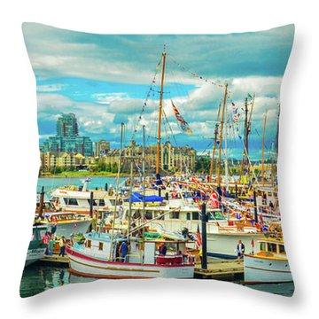 Victoria Harbor 2 Throw Pillow