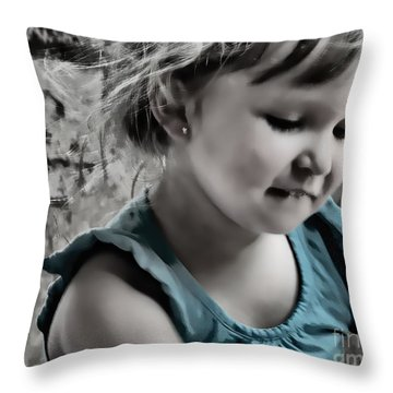 Victoria In Blue Throw Pillow