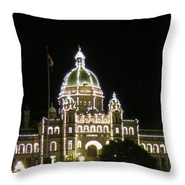 Victoria Legislative Buildings Throw Pillow by Betty Buller Whitehead