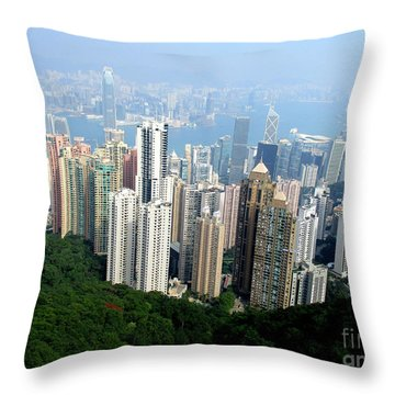 Throw Pillow featuring the photograph Victoria Peak 1 by Randall Weidner