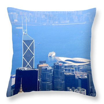 Throw Pillow featuring the photograph Victoria Peak 2 by Randall Weidner