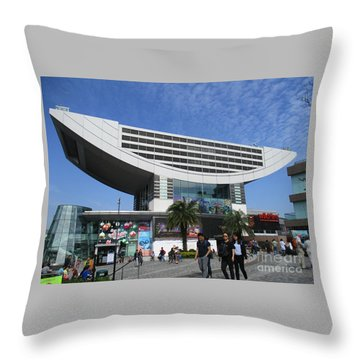 Throw Pillow featuring the photograph Victoria Peak 3 by Randall Weidner