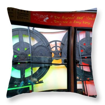 Throw Pillow featuring the photograph Victoria Peak 4 by Randall Weidner