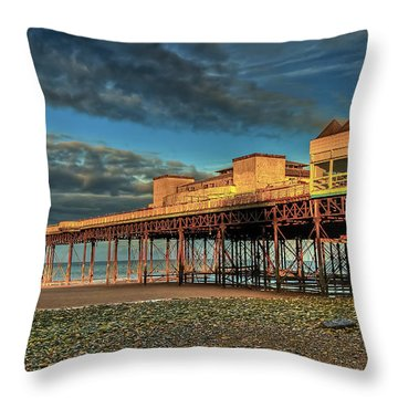 Throw Pillow featuring the photograph Victoria Pier 1899 by Adrian Evans