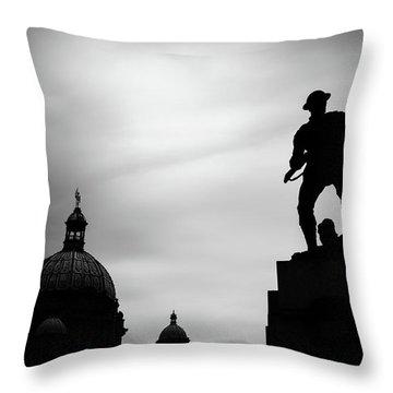 Victoria Silhouettes Throw Pillow