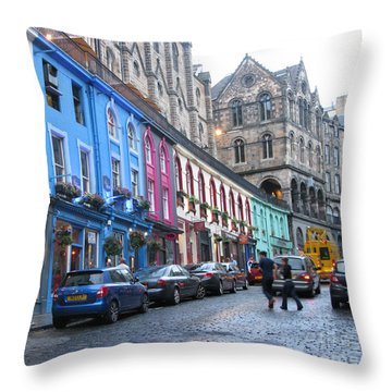Victoria St Throw Pillow by Mini Arora