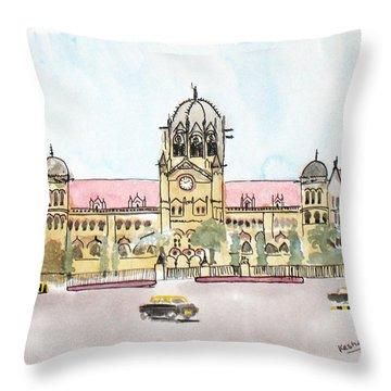 Victoria Terminus Throw Pillow