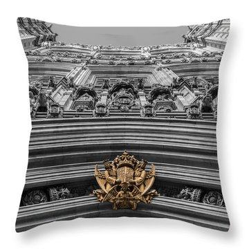 Victoria Tower Low Angle London Throw Pillow
