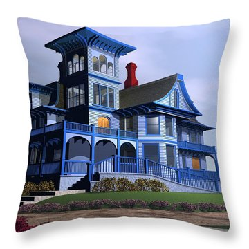 Victorian Cape May Throw Pillow by John Pangia