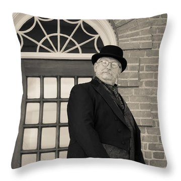 Victorian Dandy Throw Pillow