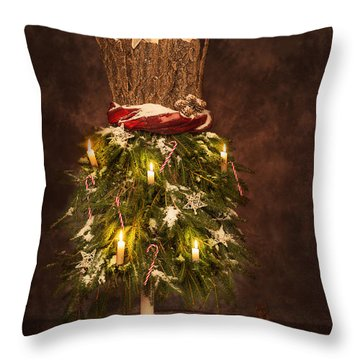Victorian Festive Christmas  Throw Pillow