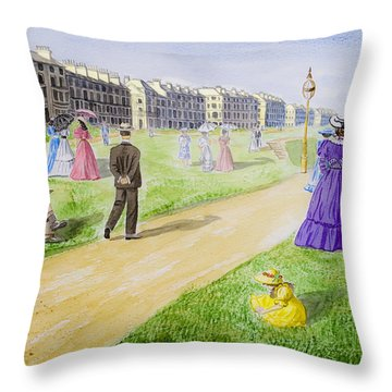 Victorian Filey Throw Pillow by Svetlana Sewell