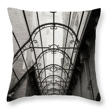 Victorian Glass Roof Throw Pillow