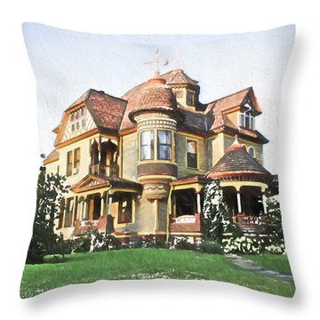 Victorian House Throw Pillow by Ericamaxine Price