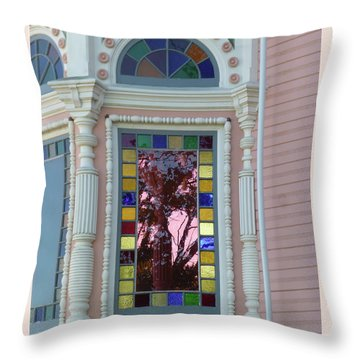 Victorian House Window Throw Pillow