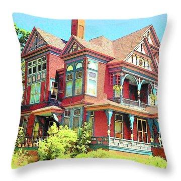 Victorian Throw Pillow by John Schneider