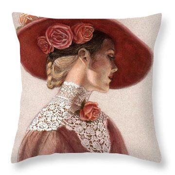Flower Paintings Throw Pillows