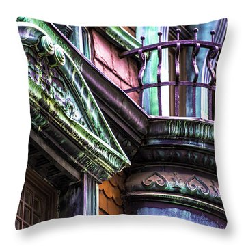 Victorian On Rush V2 Throw Pillow by Raymond Kunst