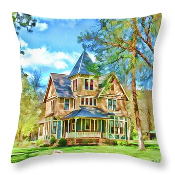 Throw Pillow featuring the photograph Victorian Painting by Wendy McKennon