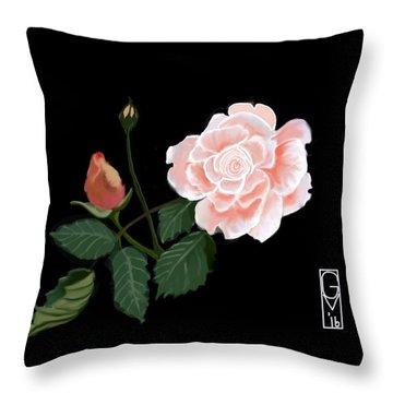 Victorian Rose Throw Pillow